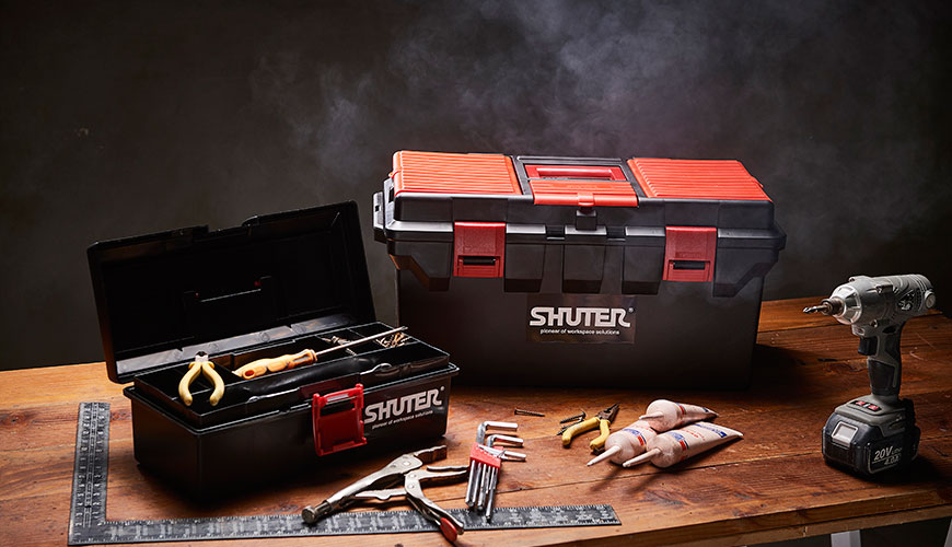 SHUTER professional tool boxes are sturdy and well-designed.